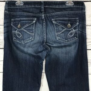 See Thru Soul Jeans Low-Rise Distressed Bootcut